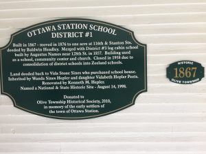 Ottawa Station School Historic Marker