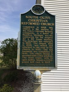 South Olive Christian Reformed Church Historical Marker