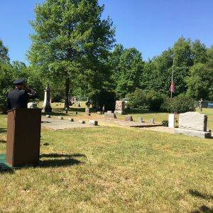 Color Guard gun salute | Memorial Day 2017 | Olive Township
