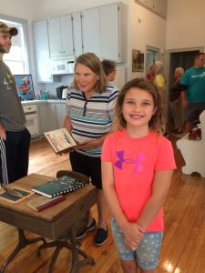 Young and old enjoy history of the old school house.