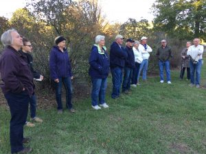 Participants interested in history of cemetery.