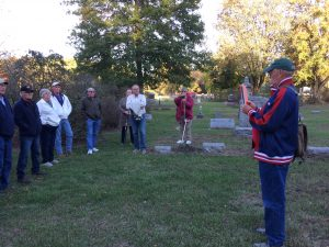Participants gather at the cemetery walk 2017.