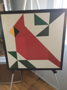 Cardinal - painted quilt board