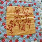 Chicken Story Quilt square.