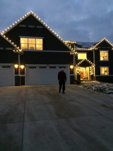 Home lit up for Christmas Home Tour.