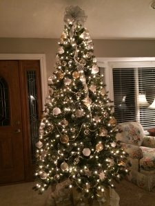 Beautifully decorated tree.