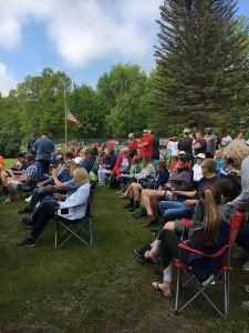 Community gathered to honor veterans.