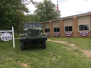 Army Truck on display at Olive Township Museum.