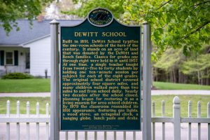 De Witt Historic Plaque.